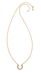 Rebecca Minkoff Safari Haze Double Tusk Necklace Gold Crystal