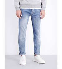 Brunello Cucinelli Faded Slim Fit Mid Rise Jeans Lt Wash