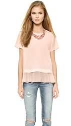Madison Marcus Delilah Layered Tee Blush