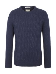 Racing Green Harbour Crew Neck Knit Navy