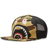 A Bathing Ape 1St Camo Shark Mesh Cap Green
