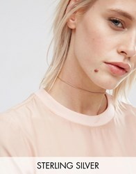 Asos Gold Plated Sterling Silver Chain Choker Necklace Gold