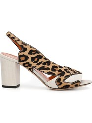 Charlotte Olympia 'Jaguar' Sandals Nude And Neutrals