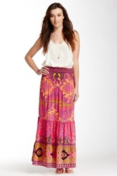 Hale Bob Silk Maxi Skirt Purple