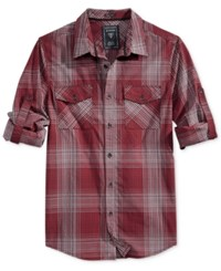 Guess Men's Hammersmith Check Shirt Pinot Noir Multi