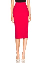 Roland Mouret Arreton Double Wool Crepe Skirt In Pink