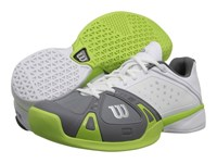 Wilson Rush Pro White Graphite Green Men's Tennis Shoes Gray