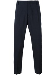 Paolo Pecora Tapered Trousers Blue