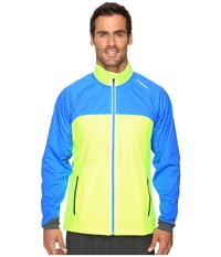 Brooks Drift Shell Nightlife Ultra Blue Men's Coat Yellow