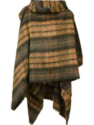 Vivienne Westwood Checked Cape Green