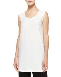 Caroline Rose Knit Tunic Tank White Women's