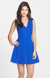 Women's Felicity And Coco Back Cutout Fit And Flare Dress Cobalt