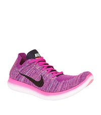 Nike Free Rn Flyknit Running Shoes Male Fuchsia