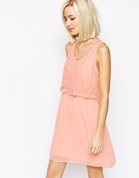 Vero Moda Lace Detail Dress Rose