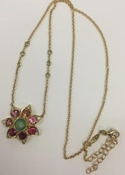 Jacquie Aiche 14K Yellow Gold 6 Diamond Opal And Pink Tourmaline Flower Necklace