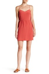 Madewell Solid Silk Cami Dress Red