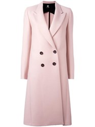 Paul Smith Ps By Peaked Lapel Mid Coat Pink Purple
