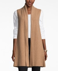 Charter Club Cashmere Sweater Vest Only At Macy's Heather Camel