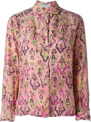 Emilio Pucci Vintage Printed Shirt Pink And Purple