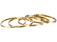 French Connection Ultra Thin Band Midi Ring Set Gold Ring