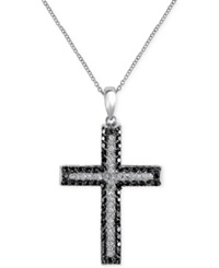 Effy Collection Effy Diamond Cross Pendant Necklace 5 8 Ct. T.W. In 14K White Gold