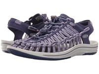 Keen Uneek Crown Blue Purple Sage Women's Toe Open Shoes