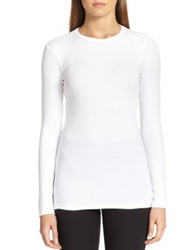 Brunello Cucinelli Stretch Jersey Long Sleeve Tee White