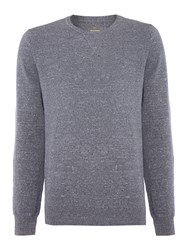 Peter Werth Haven Crew Neck Cotton Jumper Indigo