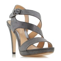 Head Over Heels Mallery Asymmetric Strap Sandals Pewter