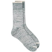 Homespun Top Stripe Sock Green