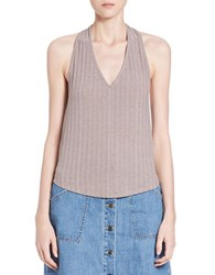 Free People Ribbed Strappy Back Halter Top