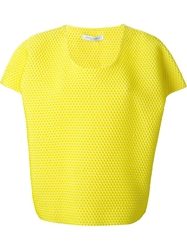Viktor And Rolf Textured Boxy Top Yellow And Orange