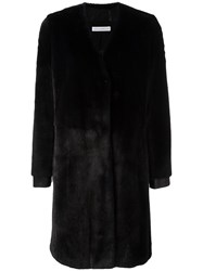 Ines And Marechal 'Alambic' Fur Coat Blue