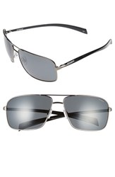 Men's Polaroid Eyewear 64Mm Polarized Aviator Sunglasses