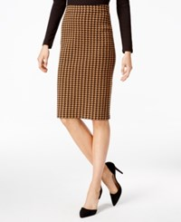 Charter Club Houndstooth Pencil Skirt Only At Macy's Salty Nut Combo