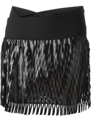 Jay Ahr Cut Out Detail Mini Skirt Black