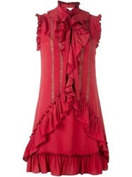 Zuhair Murad Ruffled Dress Red