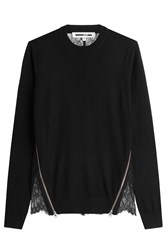 Mcq By Alexander Mcqueen Wool Pullover With Lace Back Black