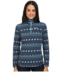 Jack Wolfskin Ice Crystal Pullover Light Sky All Over Women's Clothing Blue