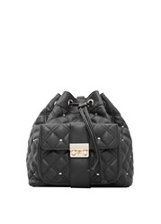 Mango Quilted Backpack Black
