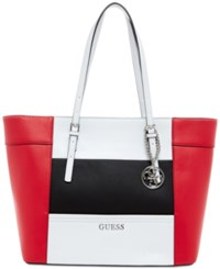 Guess Delaney Small Classic Tote Red Multi