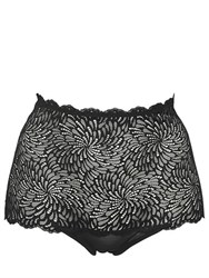 Wolford Tulle And Lace High Waist Briefs