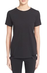 Women's Helmut Lang Slash Hem Tee Black