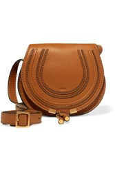 Chloe The Marcie Mini Textured Leather Shoulder Bag Brown