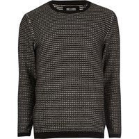 Only And Sons River Island Mens Black Knit Jumper