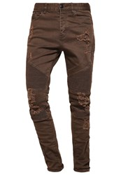 Cayler And Sons Jeans Tapered Fit Distressed Olive