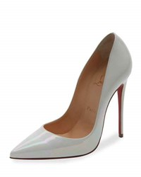 Christian Louboutin So Kate Patent 120Mm Red Sole Pump White Brown Pattern