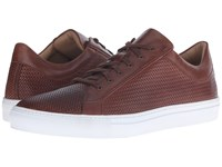 Aquatalia By Marvin K Andre Nut Woven Full Grain Men's Lace Up Casual Shoes Brown