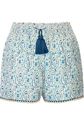 Talitha Printed Cotton And Silk Blend Shorts