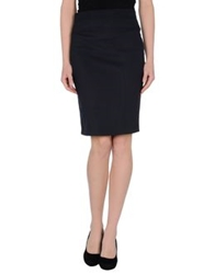 Kiltie Knee Length Skirts Black